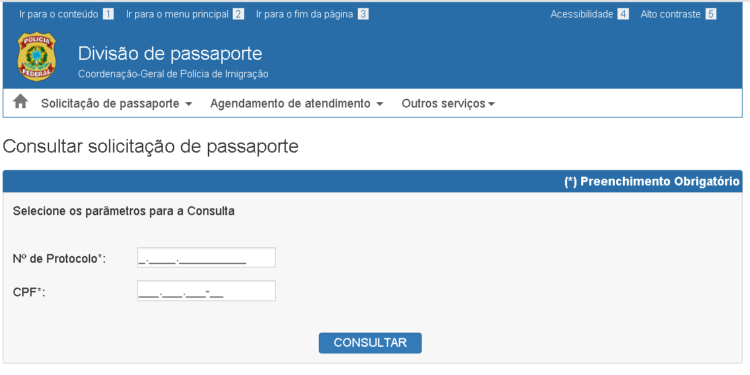 fazer passaporte online